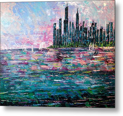 Chicago Morning - Sold Metal Print