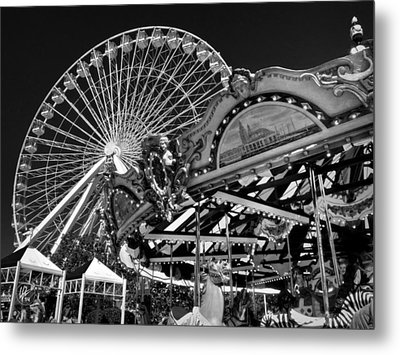 Chicago - Navy Pier - Pier Park 001 Metal Print by Lance Vaughn