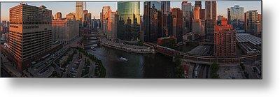 Chicago On The River Metal Print by Steve Gadomski