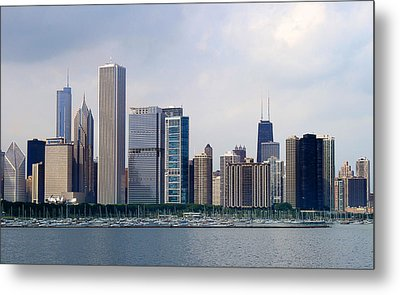 Metal Print featuring the photograph Chicago Panorama by Milena Ilieva