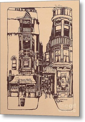 Chicago. Pipers Alley On Wells Street Metal Print
