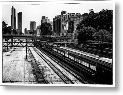 Chicago Rail Metal Print