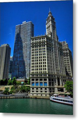 Chicago River 002 Metal Print by Lance Vaughn