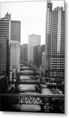 Chicago River Metal Print by Allan Millora