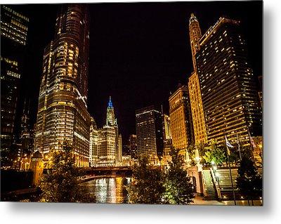 Chicago Riverwalk Metal Print by Melinda Ledsome