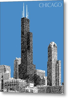 Chicago Sears Tower - Slate Metal Print by DB Artist