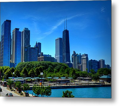 Chicago Skyline 002 Metal Print by Lance Vaughn