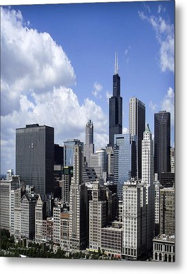 Chicago Skyline From Randolph Metal Print by Julie Palencia