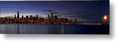 Chicago Skyline From The Lake Metal Print by Andrew Soundarajan
