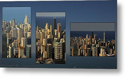 Chicago Skyline From Willis Tower Metal Print by Christine Till