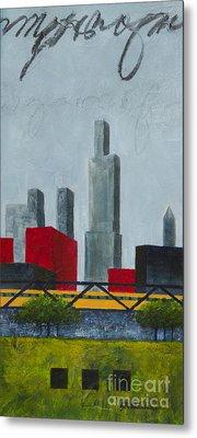 Chicago Skyline I Metal Print