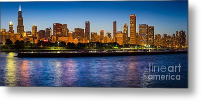 Chicago Skyline Metal Print by Inge Johnsson