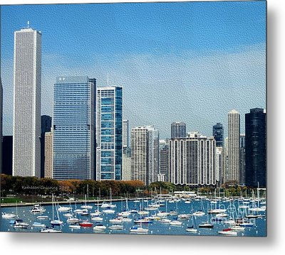 Metal Print featuring the photograph Chicago Skyline by Kathie Chicoine