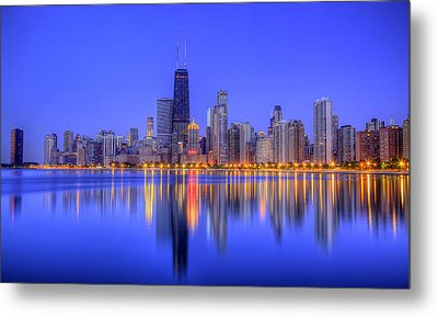Chicago Skyline Metal Print by Leslie McLain