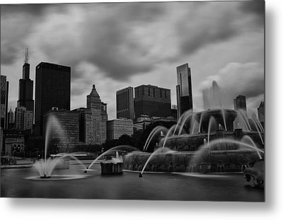 Chicago City Skyline Metal Print by Miguel Winterpacht