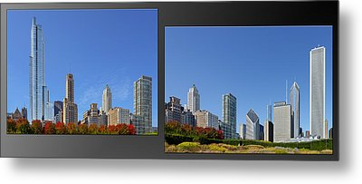 Chicago Skyline Of Superstructures Metal Print by Christine Till
