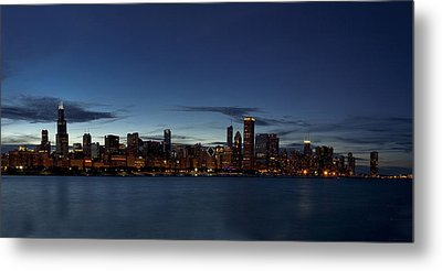 Chicago Skyline Panorama Metal Print by Andrew Soundarajan