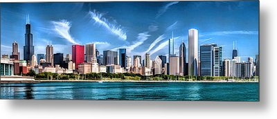 Chicago Skyline Panorama Metal Print by Christopher Arndt