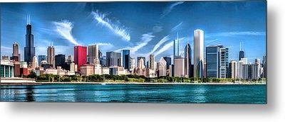Chicago Skyline Panorama Metal Print