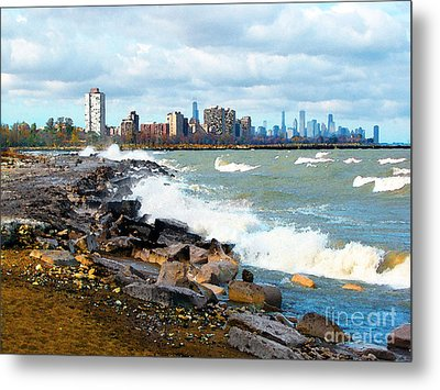 Chicago South Lakefront Metal Print by Cedric Hampton