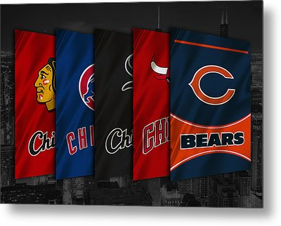 Chicago Sports Teams Metal Print by Joe Hamilton