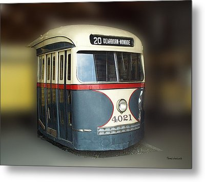 Chicago Street Car 20 Metal Print by Thomas Woolworth