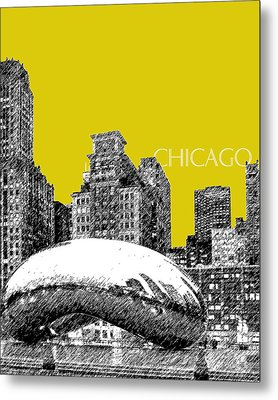 Chicago The Bean - Mustard Metal Print by DB Artist