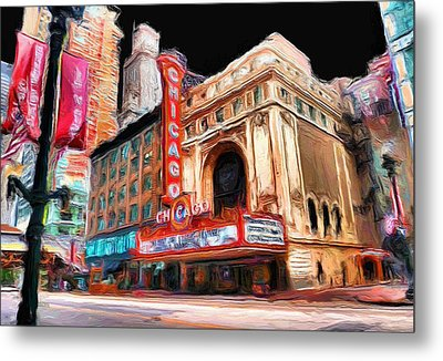 Chicago Theater - 23 Metal Print by Ely Arsha