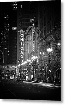 Chicago Theatre - Grandeur And Elegance Metal Print by Christine Till