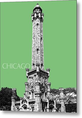 Chicago Water Tower - Apple Metal Print