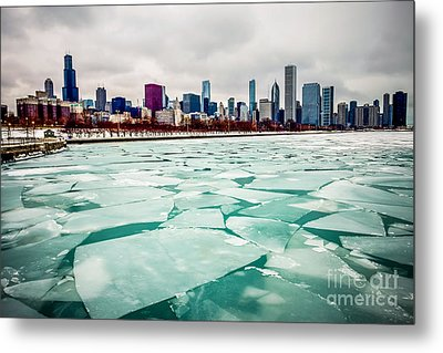 Chicago Winter Skyline Metal Print by Paul Velgos
