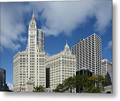 Chicago - Wrigley Building Metal Print by Christine Till