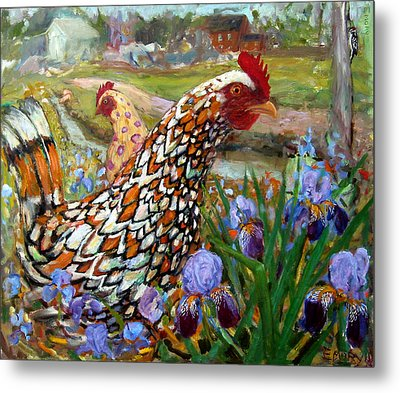 Chick And Iris Metal Print