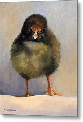 Metal Print featuring the painting Chick With Attitude by Alecia Underhill