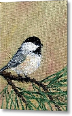 Chickadee Set 17 Bird 1 Detail Print Metal Print