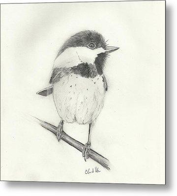 Chickadee#2 Metal Print by Christopher Hughes