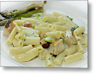 Chicken Alfredo Meal Metal Print