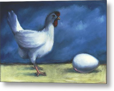 Chicken-egg Metal Print