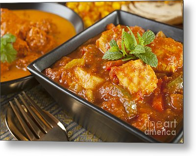 Chicken Jalfrezi Curry Metal Print by Colin and Linda McKie