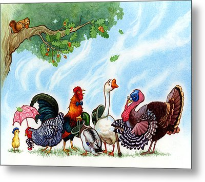 Chicken Licken Metal Print by Isabella Kung