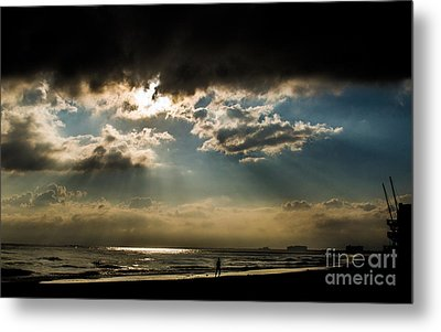 Chick's Beach Morning Metal Print