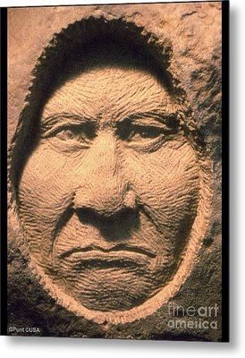 Chief-geronimo Metal Print by Gordon Punt