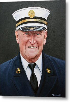 Chief Haber Metal Print by Paul Walsh