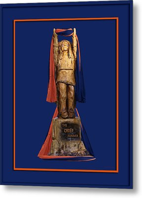 Chief Illiniwek University Of Illinois 05 Metal Print by Thomas Woolworth