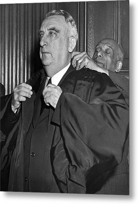 Chief Justice Fred Vinson Metal Print by Underwood Archives