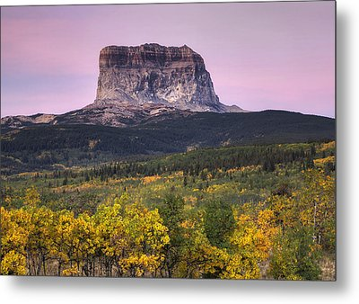 Chief Mountain Sunrise Metal Print by Mark Kiver