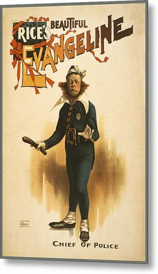 Chief Of Police Metal Print by Aged Pixel