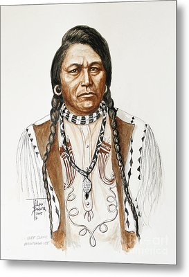 Chief Ouray Metal Print