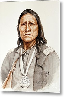 Chief Satanta Metal Print