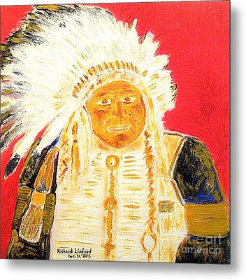 Chief Seattle 1 Metal Print by Richard W Linford
